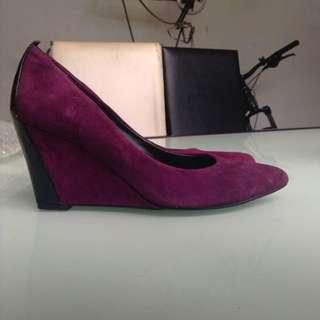 Staccato Dark Violet Suede Heels