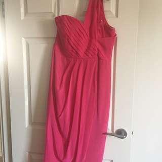 Forever New Carmen Silk One Shoulder Hi-lo Dress