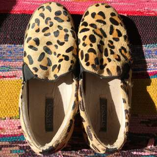 Senso Leopard Pony Hair Loafers 40