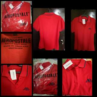 Brand New Aeropostale Red Polo Shirt