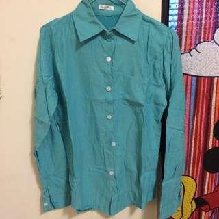 全新_基本款春夏好搭配藍綠色襯衫