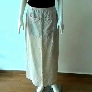Beige Long Skirt, Monsoon