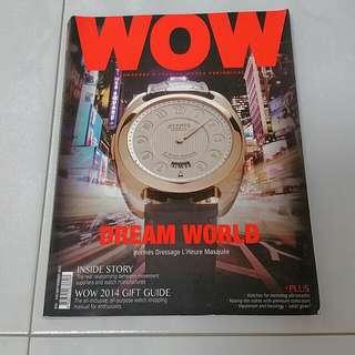 WOW Premier Watch Magazine September 2014 luxury watch