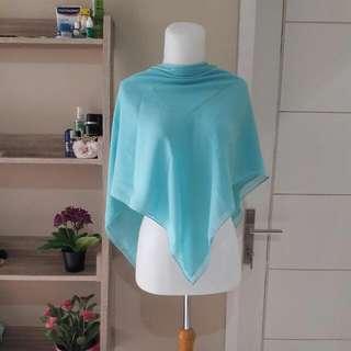 Blue Ceruty Square Hijab (FREE ONGKIR)