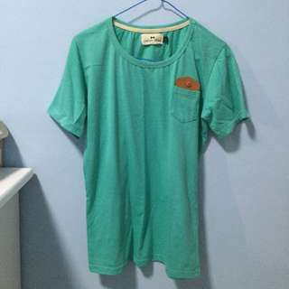 L Size Green T-shirt