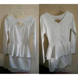 Slim Fit Dress White