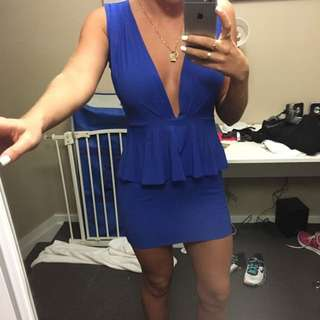 Backless Blue Dress