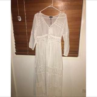 Bardot Boho Dress