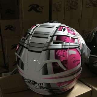 (工廠出清)3/4罩安全帽!R字採自行打版樣式 重機 摩托車