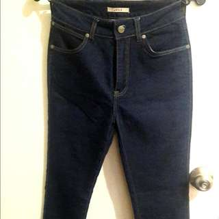 Wrangler Dark Denim High waisted Jeans (Semi Flared)