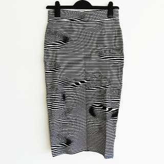 Cheap Monday Size S BNWT Liquid Strip Dream Skirt in Black and White