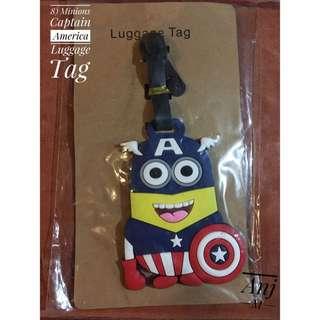 Minions Captain America Luggage Tag