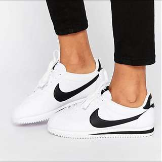 Nike Leather Cortez 黑白 經典 阿甘