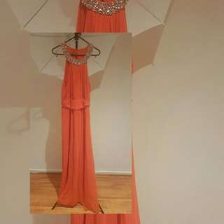 TEMT halter bead evening dress