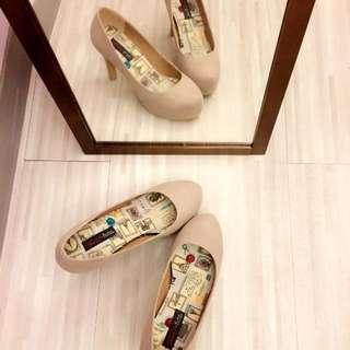 Anns美鞋*裸色氣質跟鞋