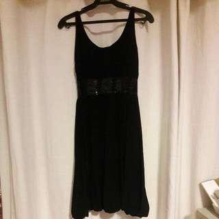 Short Black Dress with a bit of sequins