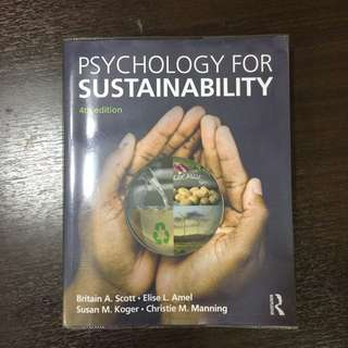 HP0301 psychology for sustainability 4th edition
