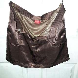 Elle Metallic Brown Mini skirt