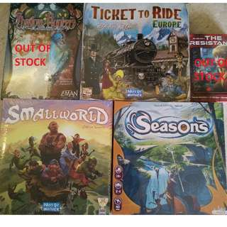 ✯Board Games (Seasons, Small World & Ticket to Ride Europe) on Sale!✮
