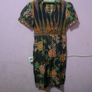 Dress Batik panjang selutut