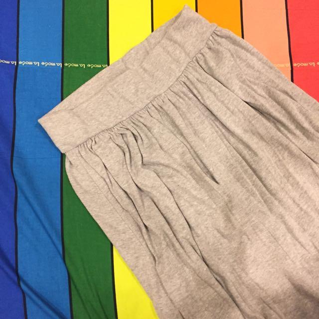 灰色棉質長裙(價格含運)