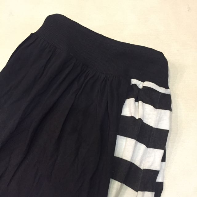 黑白條紋裙