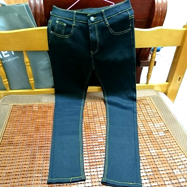 (男款)黑色牛仔褲