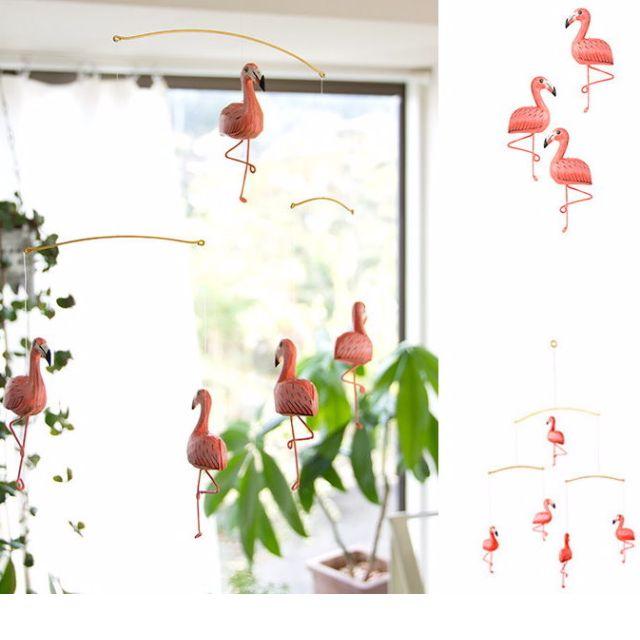 髮廊的生活日常-日本設計絕版紅鶴流動吊掛裝飾品