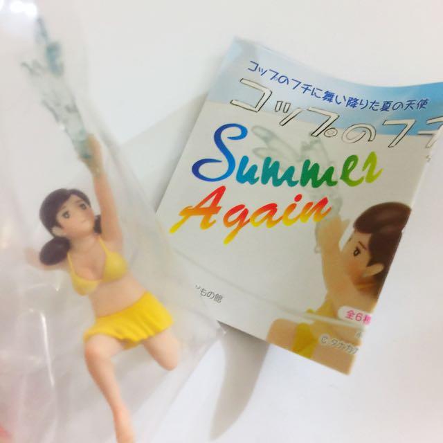 《交換》夏休二代杯緣子-盒玩版潑水