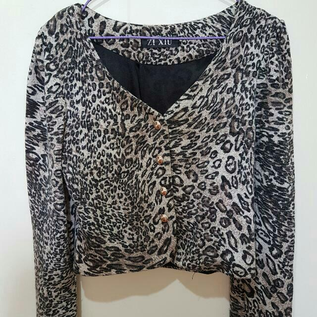 Animal Print Blazer (Repriced From 150 To 100)