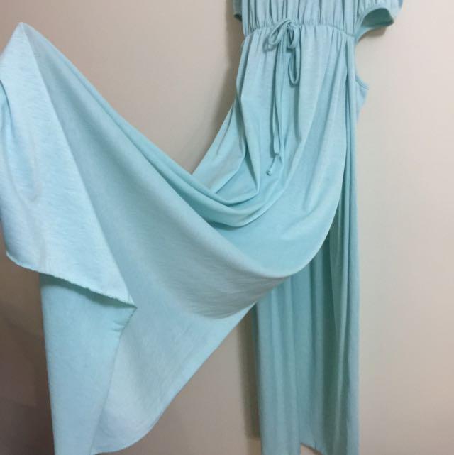 AQUAMARINE BLUE CUT OUT DRESS