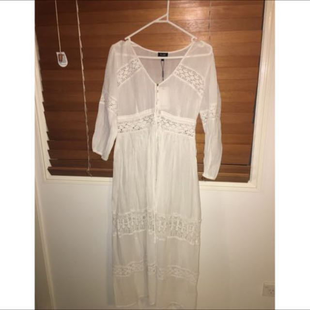 Bardot Boho Dress