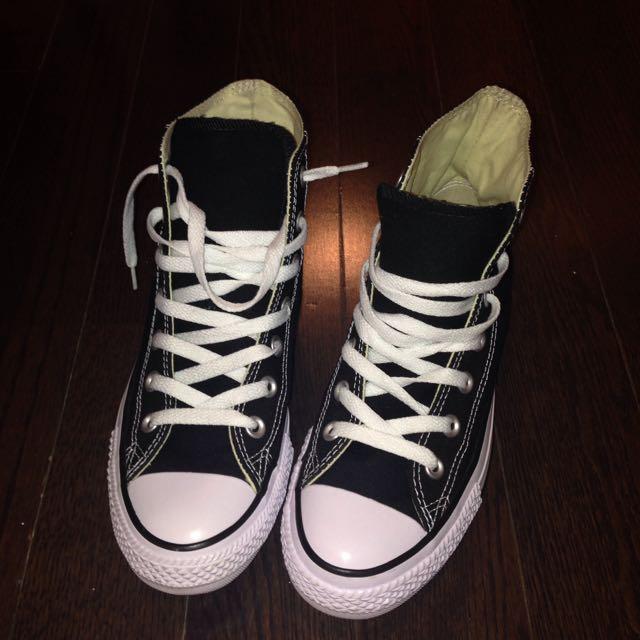 Black & White Hightop Converse
