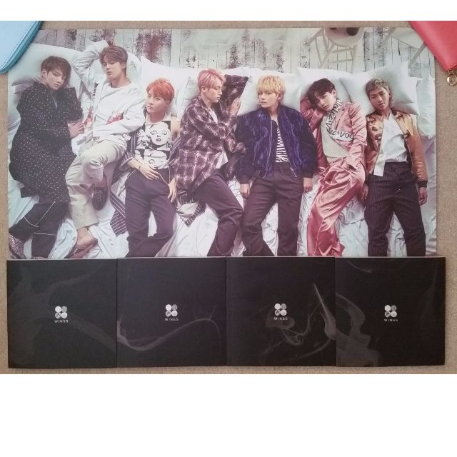 BTS 2nd album Wings (NO PC): All 4 versions (W.I.N.G)