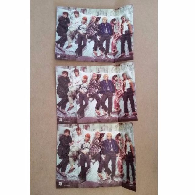 BTS WINGS Folded official poster (3 available @$5 each)