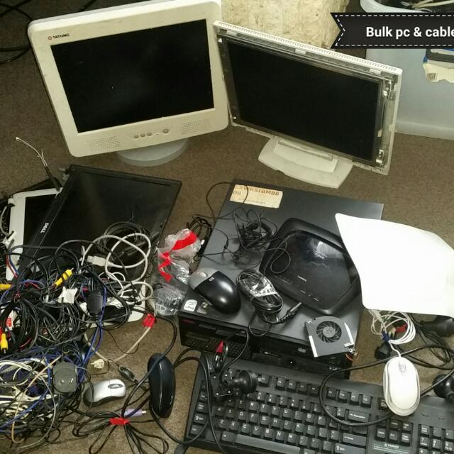 Bulk Computer laptop Pc Nd Cables