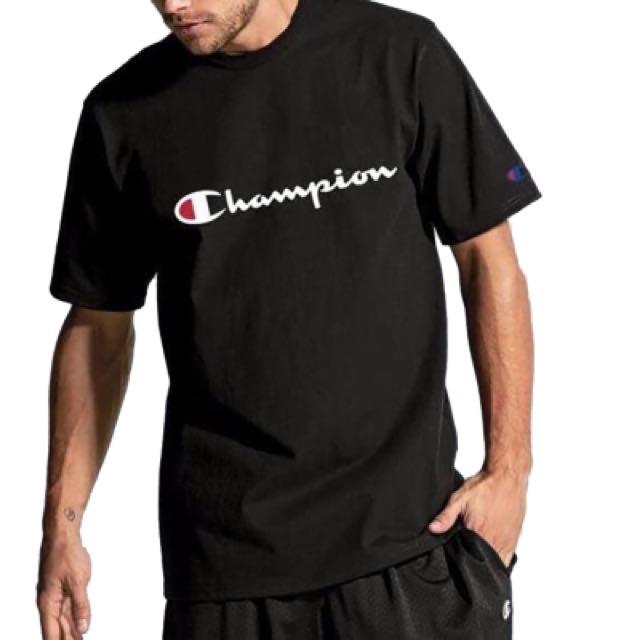 Champion草寫Tee 保證正版 ( 可參考 素T T恤 短T 大學T