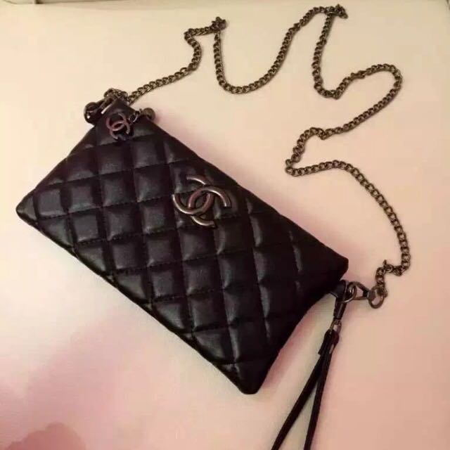 Chanel WOC Wallet With Chain Lamb Skin