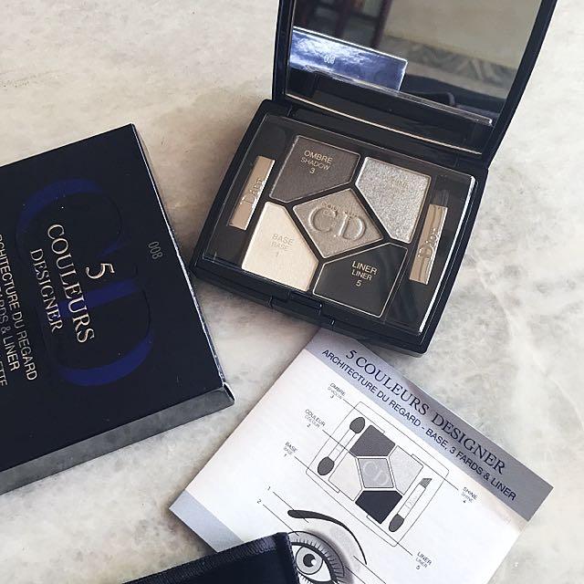 Christian Dior 5 Couleurs Designer Eyeshadow Palette in Smoky Design