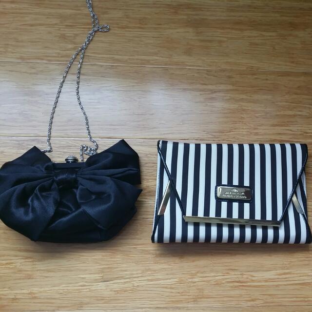 Clutch Bags Asos Black White Stripes
