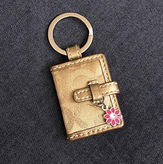 COACH奢華金相片鑰匙圈(適合交換禮物👍🎉)
