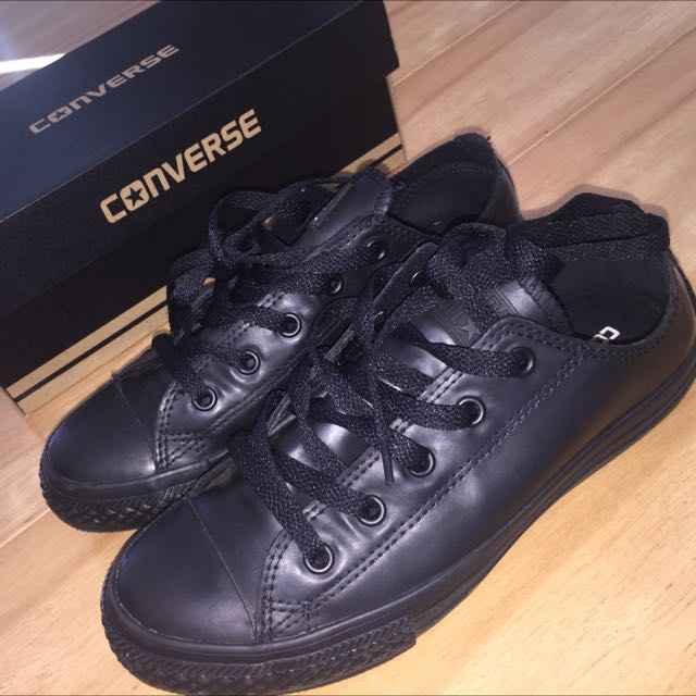 Reduced Converse All Black Rubber Sneaker