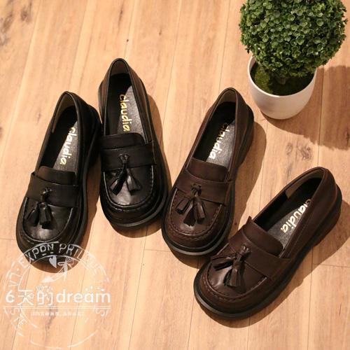 cos制服鞋流蘇樂学生鞋