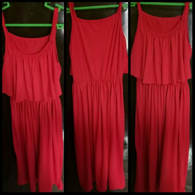 Double Strapped Long Red Dress (Unused)