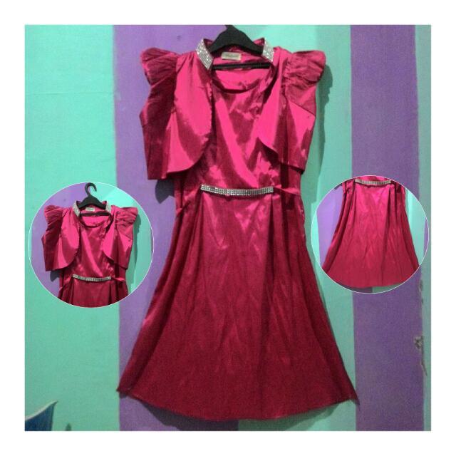 Dress Pesta Pink Fanta