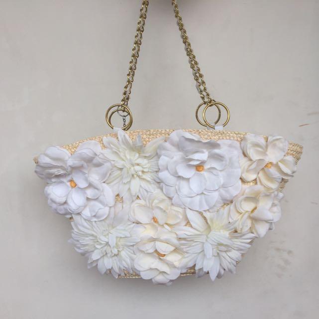 Flower Rattan Bags