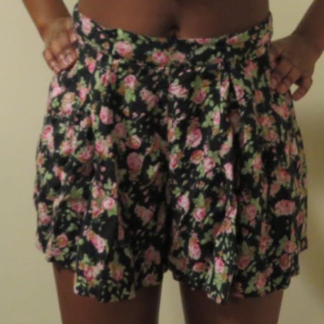 Flower Skorts (shirt And Short)