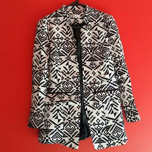Folk Style Slim Fit Ladies Coat