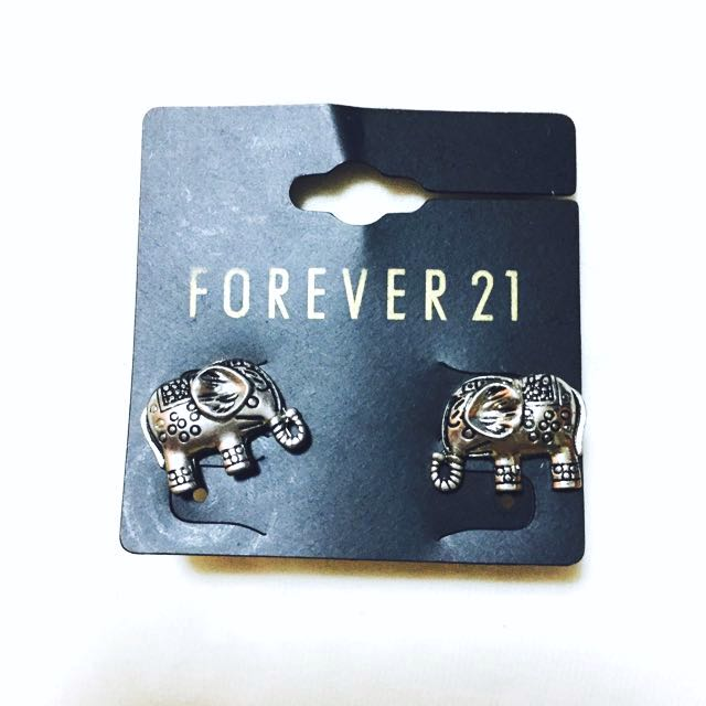 Forever 21 Elephant Earrings