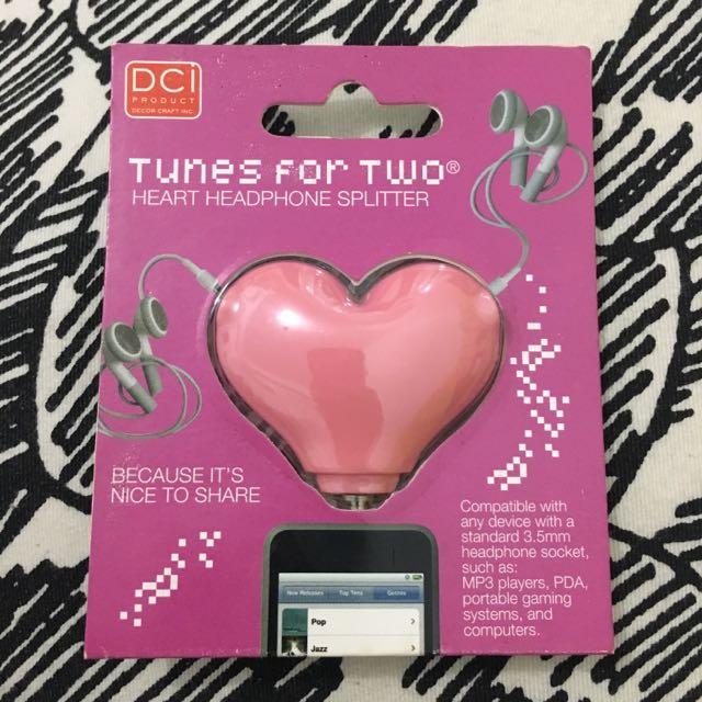 Heart Headphone Splitter